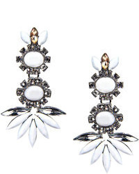 Boohoo Diana Floral Gem Statet Earrings