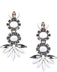 Boohoo Diana Floral Gem Statet Earrings