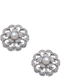 Lafonn Vintage Pearl Floral Earrings