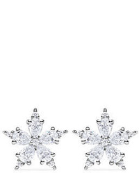 Mini stellanise diamond floral stud earrings medium 3942998