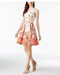 Jessica Howard Floral Print Fit Flare Dress