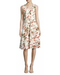 Karl Lagerfeld Paris Garden Floral Fit  Flare Dress