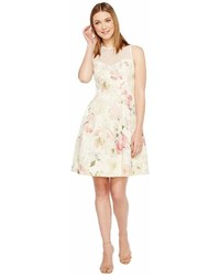 Maggy London Print Broccade Fit Flare Dress Dress