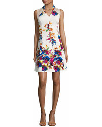 Spense Sleeveless Floral Fit Flare Dress