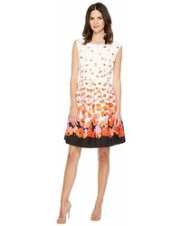 Tahari ASL Tahari By Asl Floral Jacquard Fit Flare Dress Dress