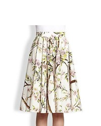 Dolce gabbana full floral print skirt white print medium 458534