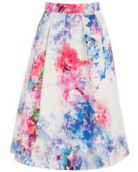 Oasis Digital Floral Full Skirt