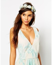 Asos Collection Pastel Rose Flower Hair Garland