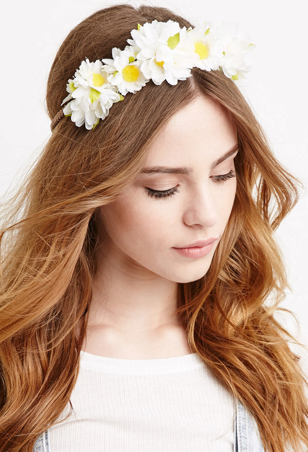 Daisy Flower Crown. White Floral Headband by Forever 21 791b0ea89d7