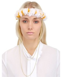 Lace Flowers Crown With Gold Chain