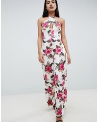 ASOS DESIGN Cross Front Jersey Jumpsuit In Hawaiian Print