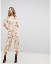 Vero Moda Floral Cropped Jumpsuit