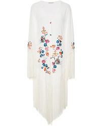 Anjuna Marisol Fringed Embroidered Kimono