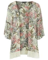 Dorothy Perkins Ivory Sketchy Floral Kimono