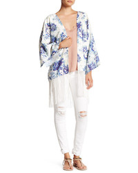 Ark & Co Fringed Floral Kimono