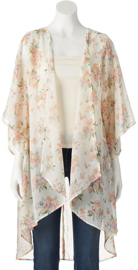 Mudd Chiffon Kimono Cardigan Juniors | Where to buy & how to wear