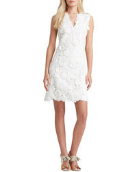 White Floral Lace Casual Dress