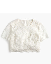 J.Crew Collection Floral Lace Cropped Top