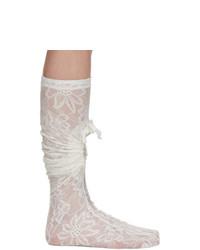 Comme des Garcons White Lace Socks