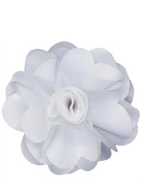 Dapper World White Rose Flower Lapel Pin