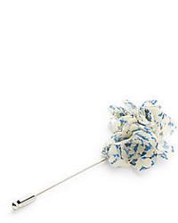 Original Penguin Dotty Floral Print Flower Lapel Pin