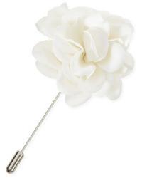 Lanvin Rose Lapel Pin White
