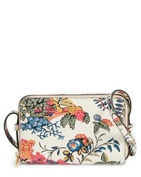 Tory Burch Mini Parker Floral Crossbody Bag White
