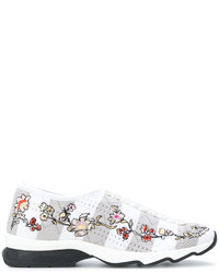 Fendi Floral Embroidered Sneakers