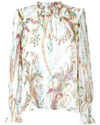 Philosophy di lorenzo serafini sheer floral print blouse medium 436913