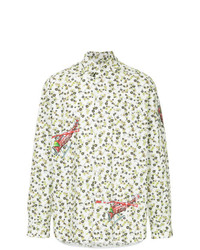 Marni Helicopter Print Floral Shirt