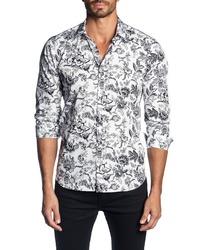 Jared Lang Regular Fit Floral Sport Shirt