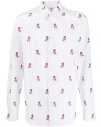 Alexander McQueen Rose Pinstriped Shirt