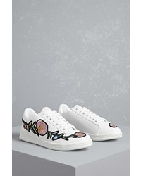 Forever 21 Floral Faux Leather Sneakers