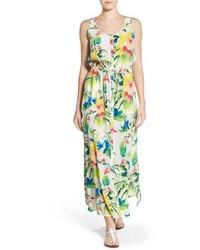 Fleur de lite silk maxi dress medium 547255