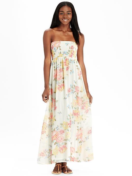 d031f84818 ... Old Navy Floral Chiffon Maxi Tube Dresses ...