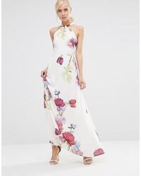 Vestidos blancos con flores largos