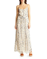 Marucheka floral print silk maxi dress medium 222572