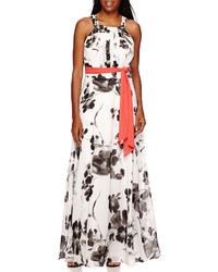 e57c72fb22f9 ... R K Originals Rk Originals Sleeveless Floral Chiffon Maxi Dress