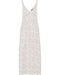 R13 floral printed silk satin maxi dress ivory medium 4413166