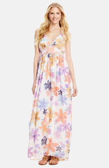 Jessica Simpson Roslyn Halter Maxi Dress