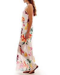 55544338634 ... Bisou Bisou Sleeveless Chain Neck Floral Print Maxi Dress ...
