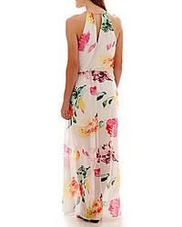 c74d5a1882f ... Bisou Bisou Sleeveless Chain Neck Floral Print Maxi Dress