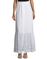 Aiden floral embroidered maxi skirt pure white medium 648500