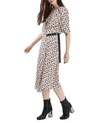 Topshop Floral Midi Dress