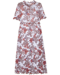 See by Chloe Ruffled Floral Print Stretch Gauze Dress