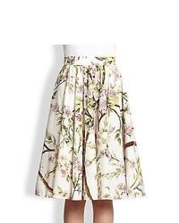 Dolce gabbana full floral print skirt white print medium 363131