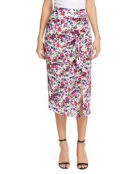 Saloni Kelly Floral Print Silk Skirt