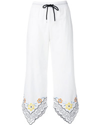See by Chloe See By Chlo Floral Trim Drawstring Trousers