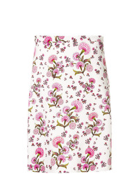 Giambattista Valli Floral Print A Line Skirt