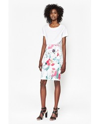 French Connection Floral Reef Pencil Skirt